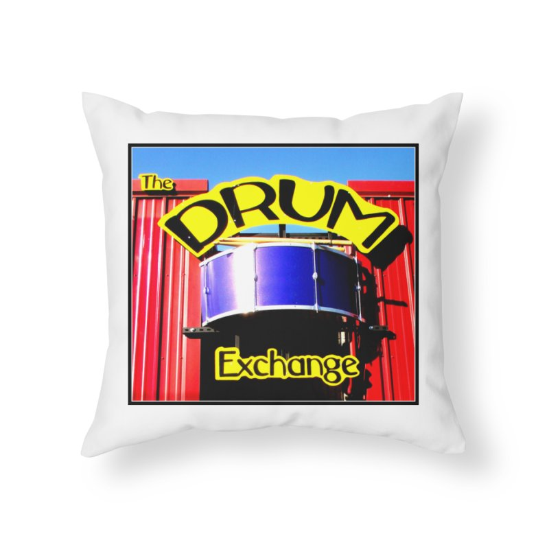 Drum Exchange Sign Home Throw Pillow by EdHartmanMusic Swag Shop!