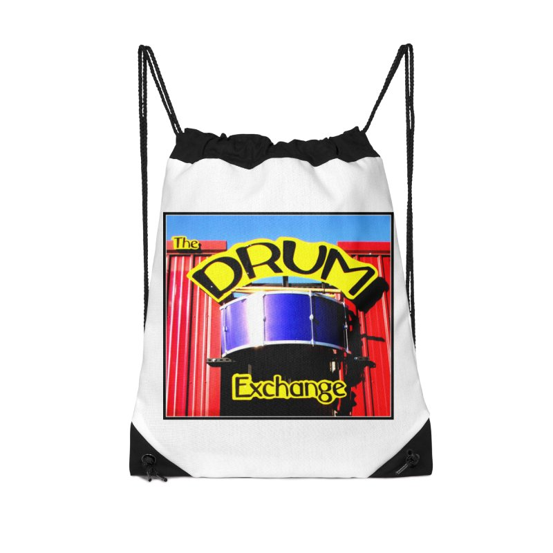 Drum Exchange Sign Accessories Drawstring Bag Bag by EdHartmanMusic Swag Shop!