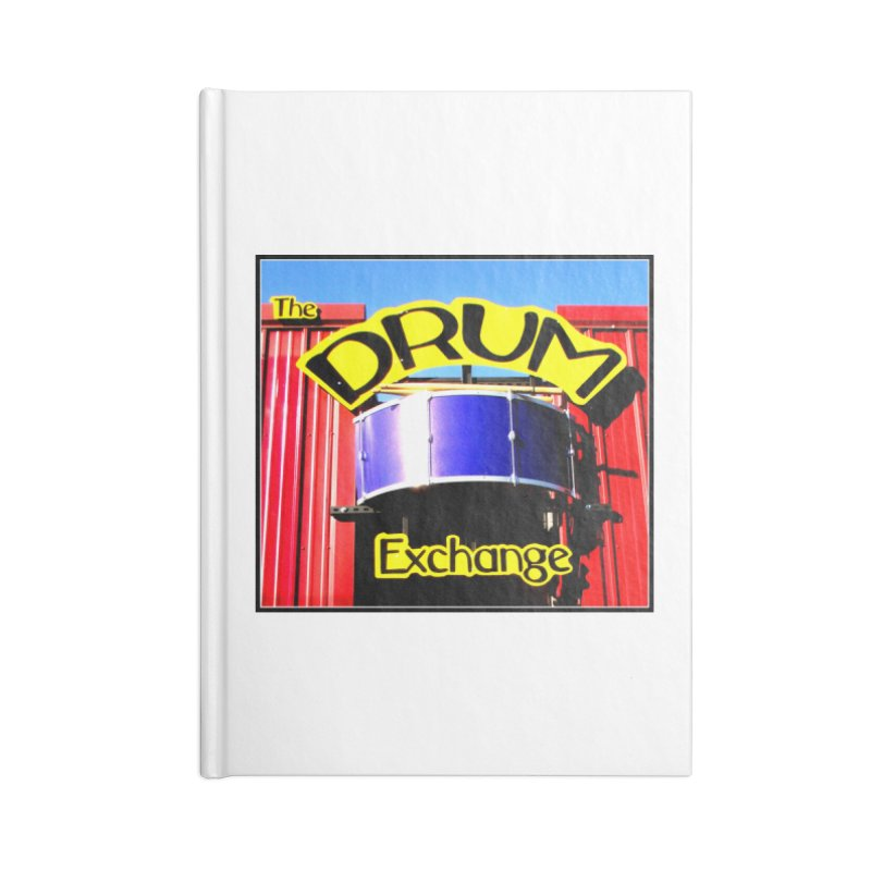 Drum Exchange Sign Accessories Lined Journal Notebook by EdHartmanMusic Swag Shop!
