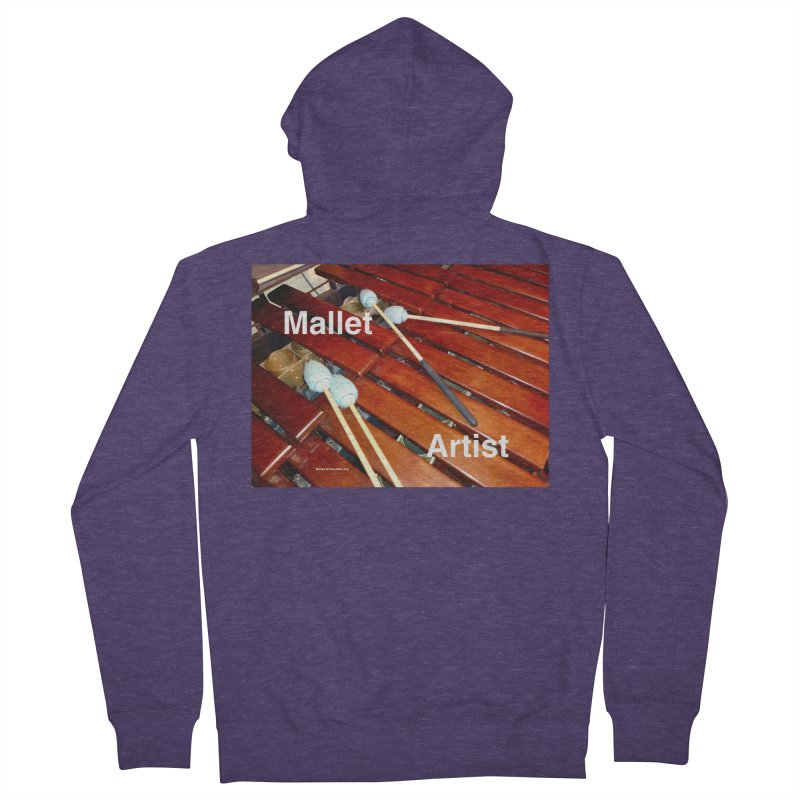 Mallet Artist Men's Zip-Up Hoody by EdHartmanMusic Swag Shop!