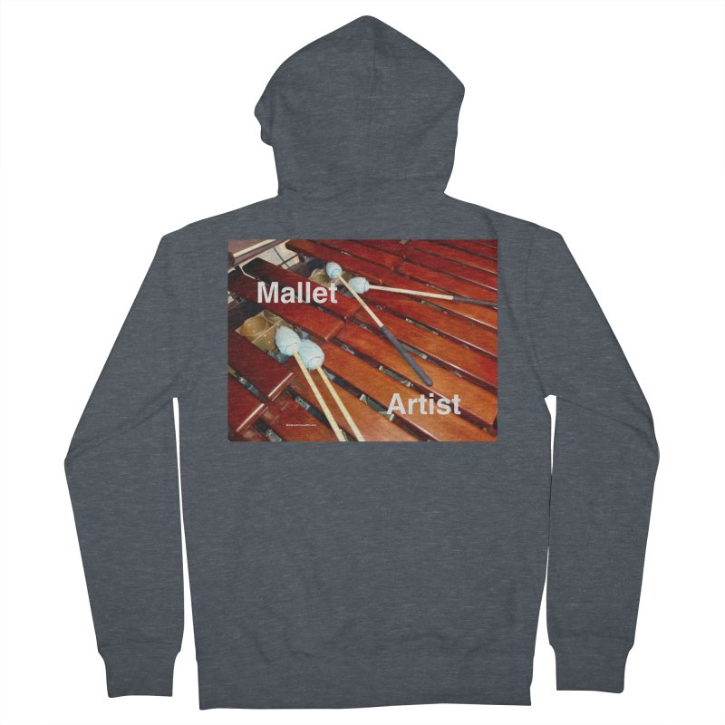 Mallet Artist Men's French Terry Zip-Up Hoody by EdHartmanMusic Swag Shop!