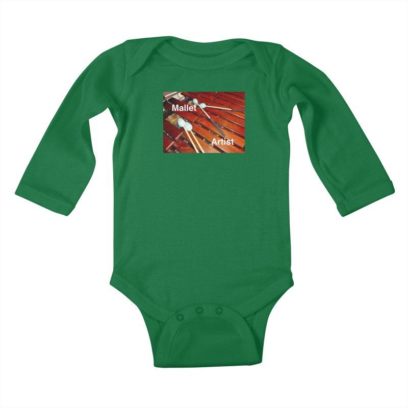 Mallet Artist Kids Baby Longsleeve Bodysuit by EdHartmanMusic Swag Shop!