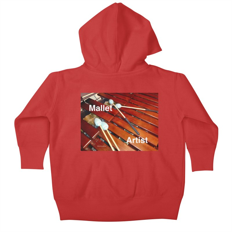 Mallet Artist Kids Baby Zip-Up Hoody by EdHartmanMusic Swag Shop!