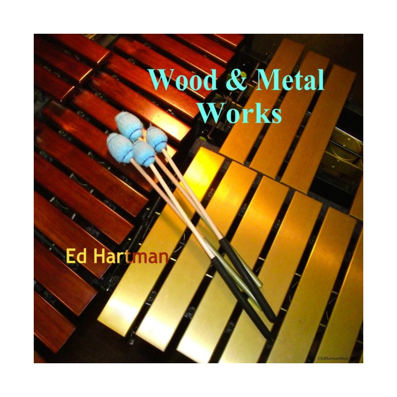 Wood and Metal Works CD Cover Women's Sweatshirt by EdHartmanMusic Swag Shop!