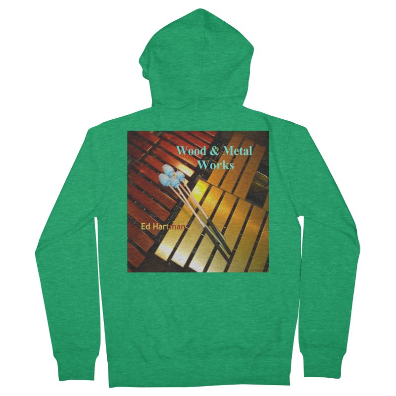 Wood and Metal Works CD Cover Men's Zip-Up Hoody by EdHartmanMusic Swag Shop!
