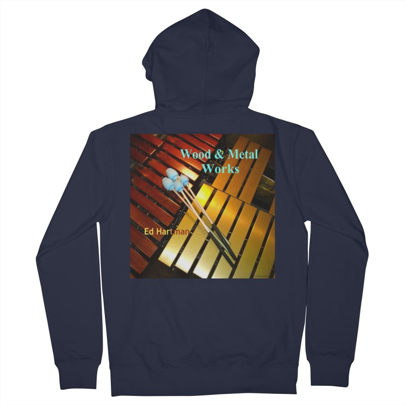 Wood and Metal Works CD Cover Women's French Terry Zip-Up Hoody by EdHartmanMusic Swag Shop!