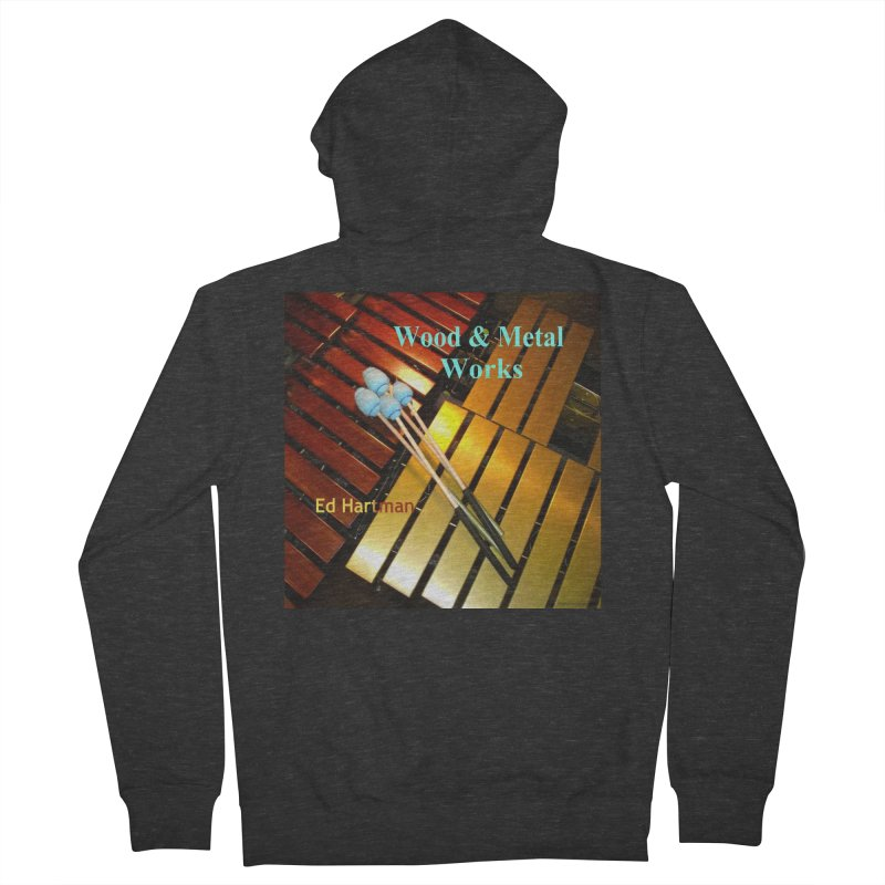 Wood and Metal Works CD Cover Men's French Terry Zip-Up Hoody by EdHartmanMusic Swag Shop!