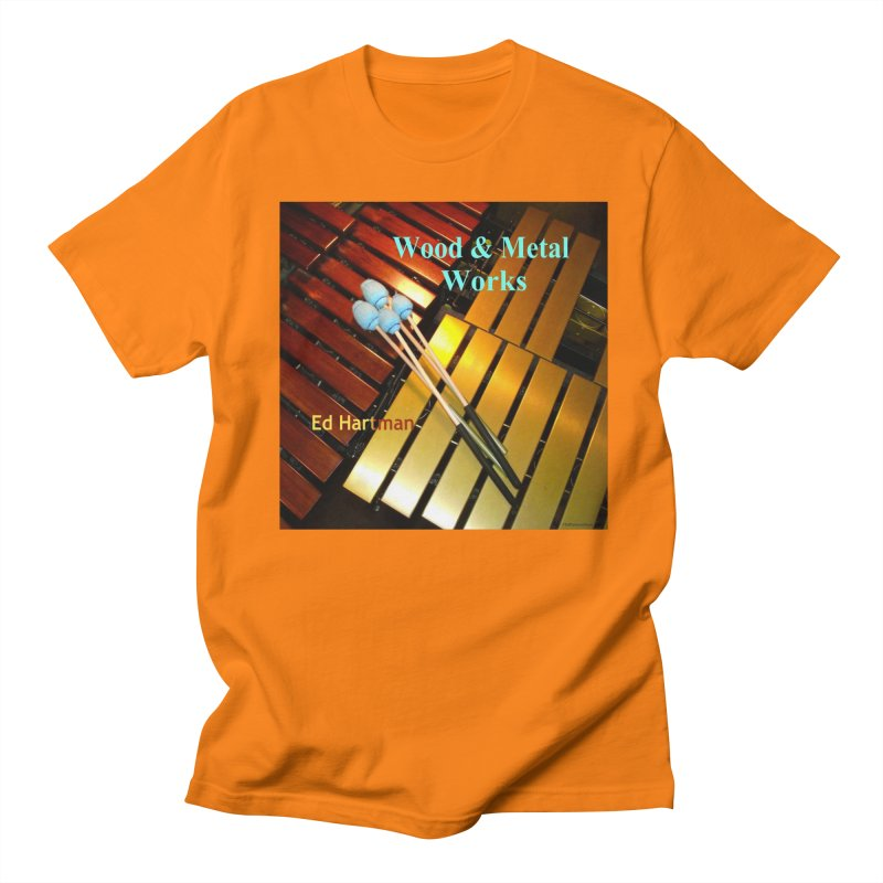 Wood and Metal Works CD Cover Women's Unisex T-Shirt by EdHartmanMusic Swag Shop!