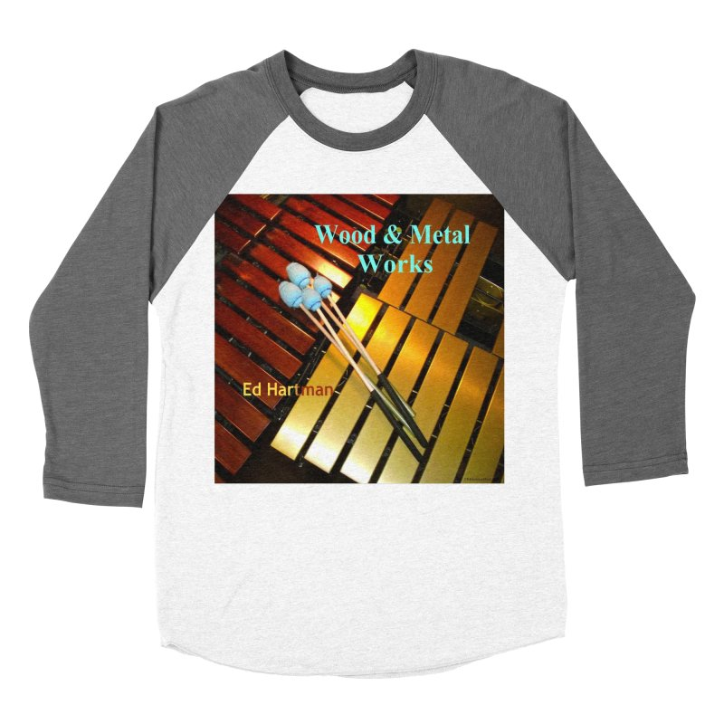 Wood and Metal Works CD Cover Women's Baseball Triblend Longsleeve T-Shirt by EdHartmanMusic Swag Shop!