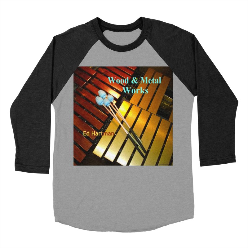 Wood and Metal Works CD Cover Women's Baseball Triblend Longsleeve T-Shirt by EdHartmanMusic Swag Shop!