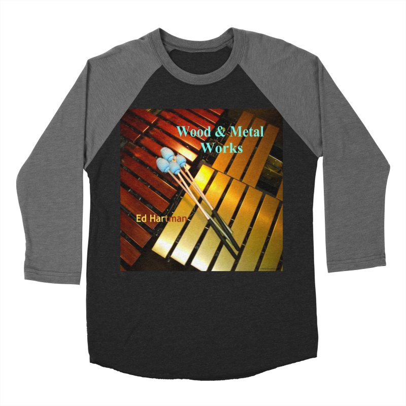 Wood and Metal Works CD Cover Men's Baseball Triblend Longsleeve T-Shirt by EdHartmanMusic Swag Shop!