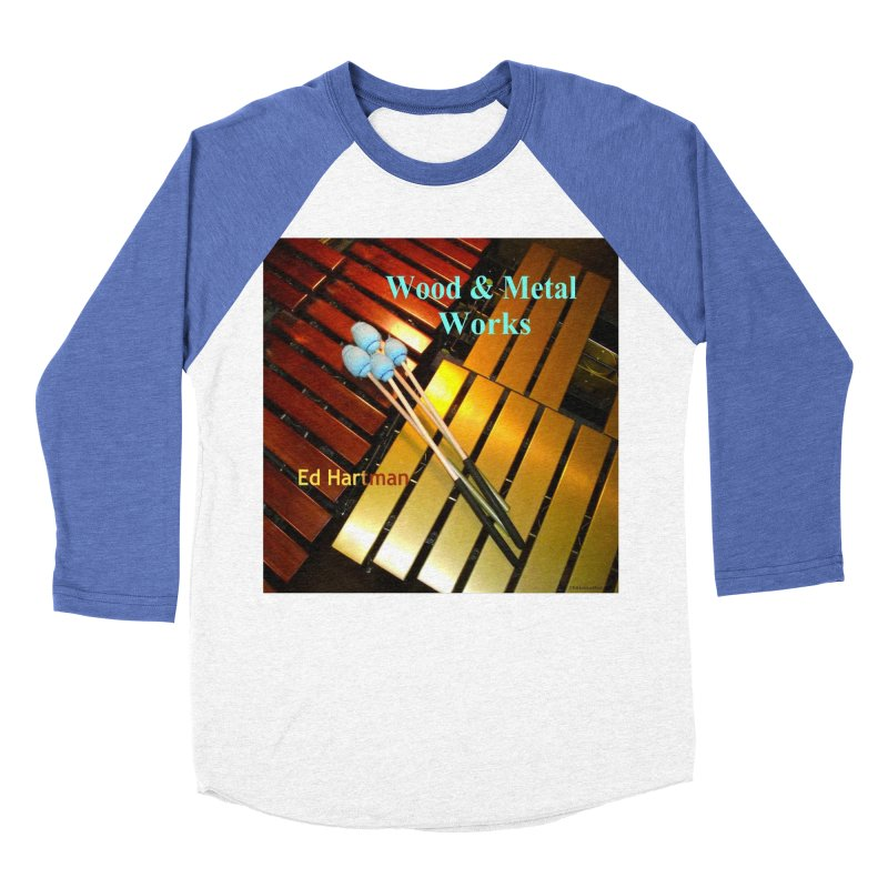 Wood and Metal Works CD Cover Men's Baseball Triblend Longsleeve T-Shirt by EdHartmanMusic Swag Shop!