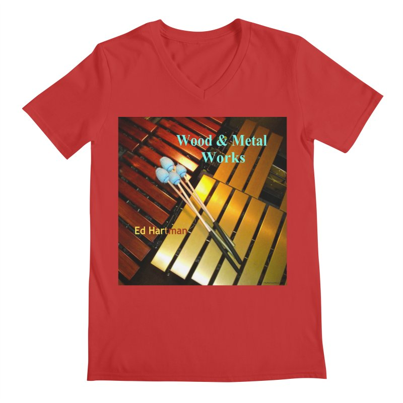 Wood and Metal Works CD Cover Men's Regular V-Neck by EdHartmanMusic Swag Shop!