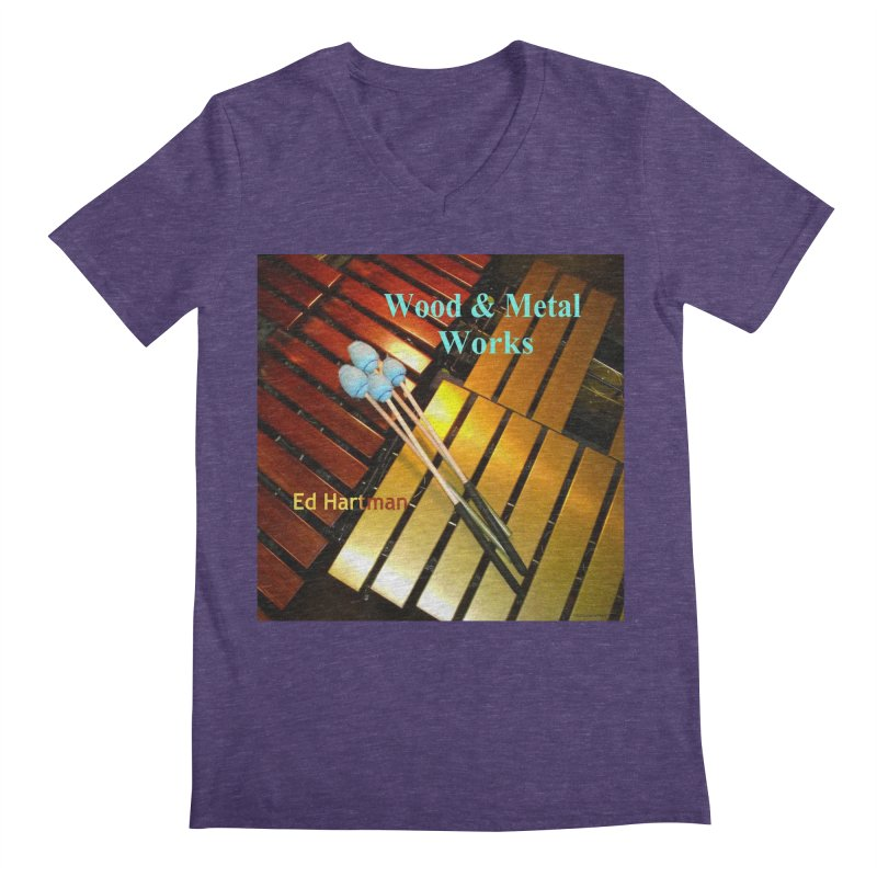 Wood and Metal Works CD Cover Men's V-Neck by EdHartmanMusic Swag Shop!