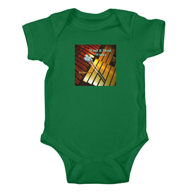 Wood and Metal Works CD Cover Kids Baby Bodysuit by EdHartmanMusic Swag Shop!