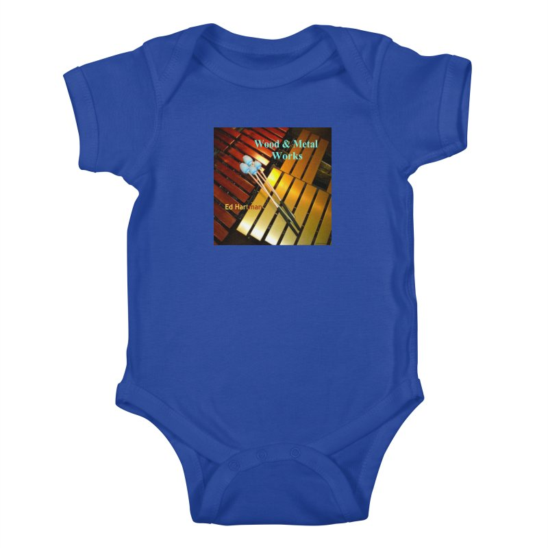 Wood and Metal Works CD Cover Kids Baby Bodysuit by EdHartmanMusic Swag Shop!