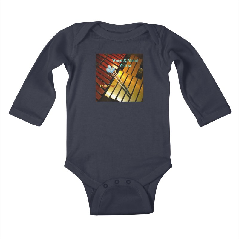 Wood and Metal Works CD Cover Kids Baby Longsleeve Bodysuit by EdHartmanMusic Swag Shop!
