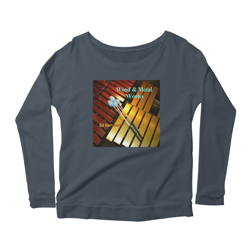 Wood and Metal Works CD Cover Women's Longsleeve Scoopneck  by EdHartmanMusic Swag Shop!