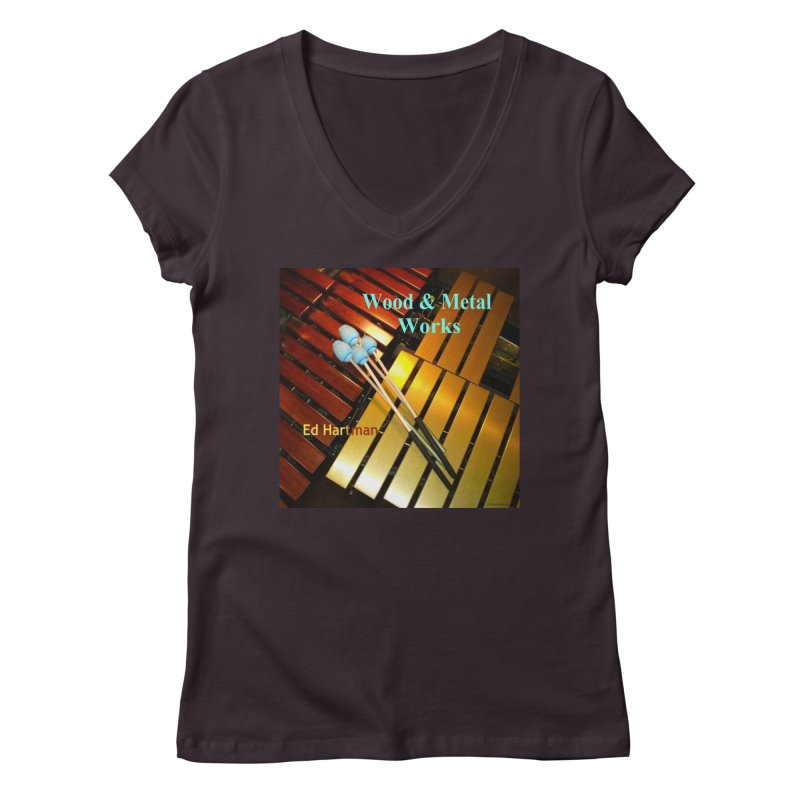 Wood and Metal Works CD Cover Women's V-Neck by EdHartmanMusic Swag Shop!
