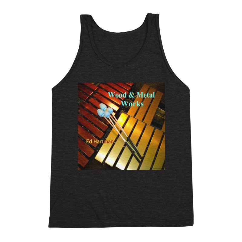 Wood and Metal Works CD Cover Men's Triblend Tank by EdHartmanMusic Swag Shop!