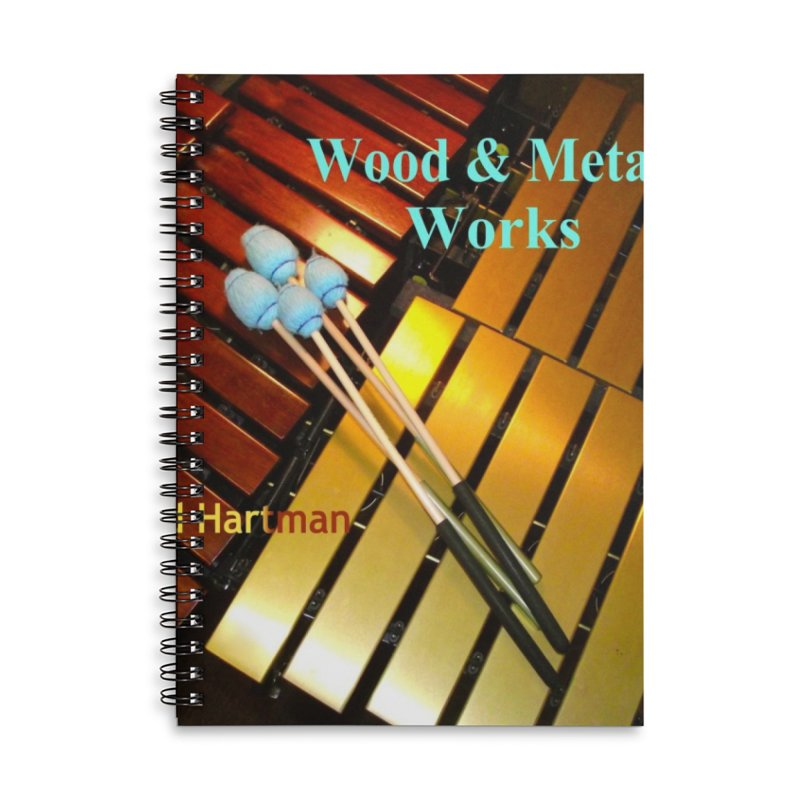 Wood and Metal Works CD Cover Accessories Lined Spiral Notebook by EdHartmanMusic Swag Shop!