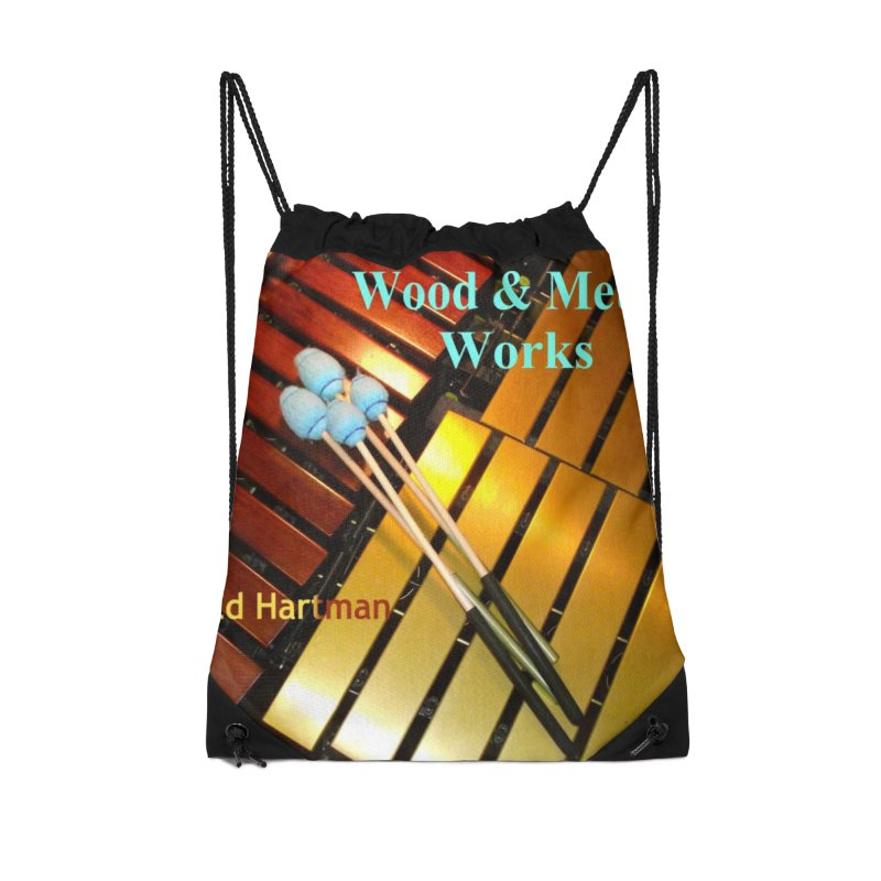 Wood and Metal Works CD Cover Accessories Drawstring Bag Bag by EdHartmanMusic Swag Shop!