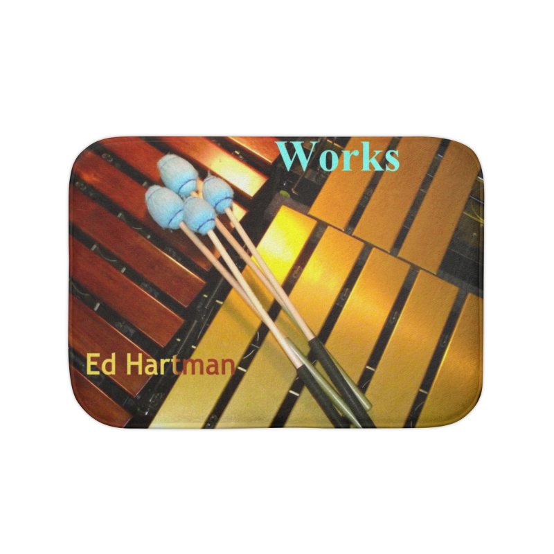 Wood and Metal Works CD Cover Home Bath Mat by EdHartmanMusic Swag Shop!