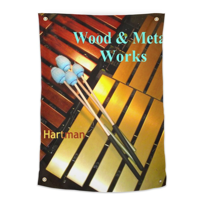 Wood and Metal Works CD Cover Home Tapestry by EdHartmanMusic Swag Shop!