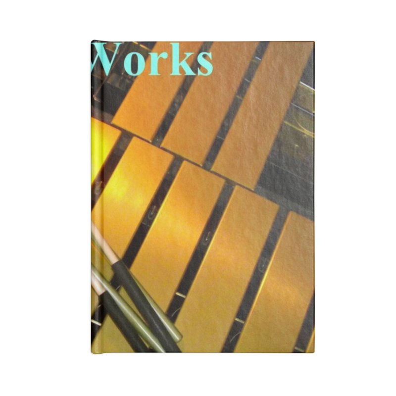Wood and Metal Works CD Cover Accessories Blank Journal Notebook by EdHartmanMusic Swag Shop!