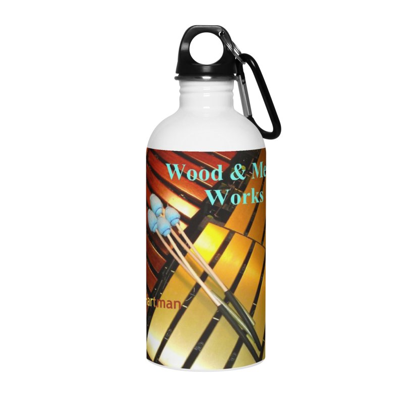 Wood and Metal Works CD Cover Accessories Water Bottle by EdHartmanMusic Swag Shop!