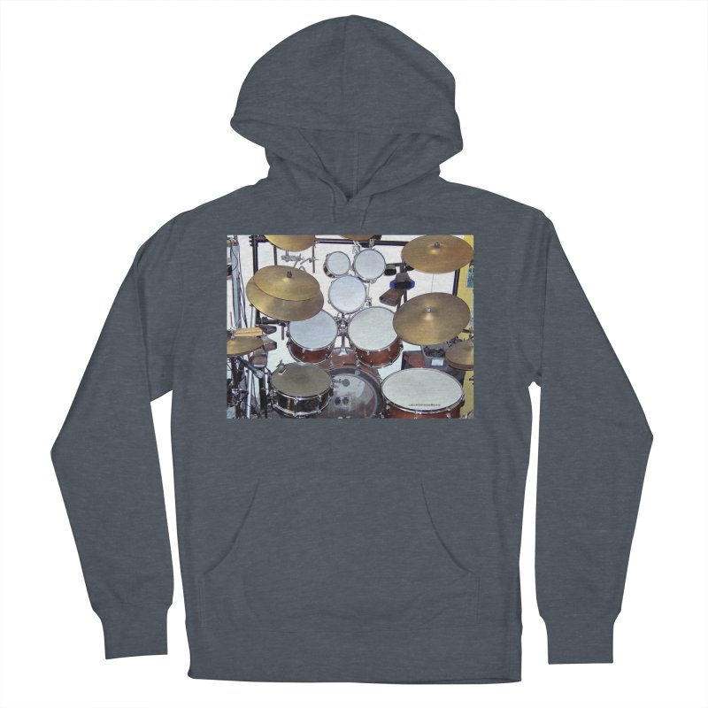 I need a BIG Drumset! Women's French Terry Pullover Hoody by EdHartmanMusic Swag Shop!