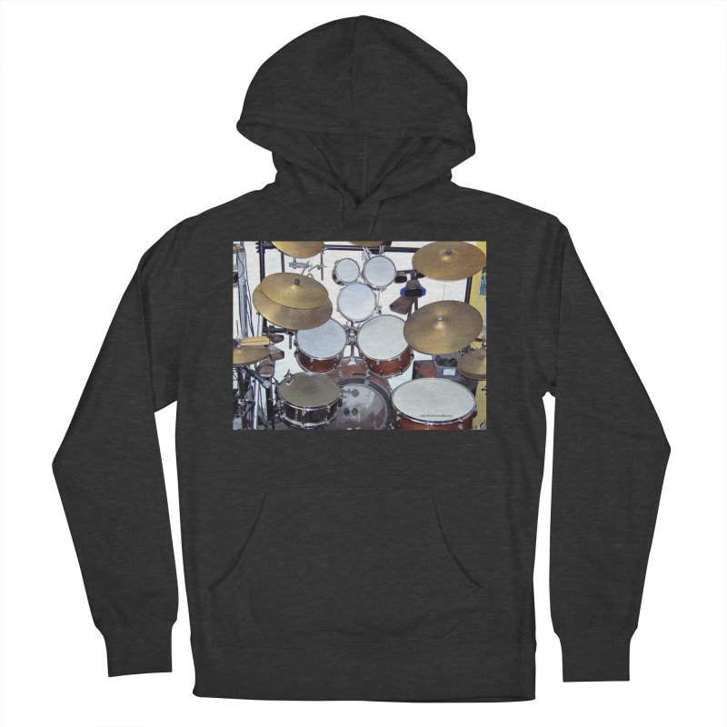 I need a BIG Drumset! Men's French Terry Pullover Hoody by EdHartmanMusic Swag Shop!
