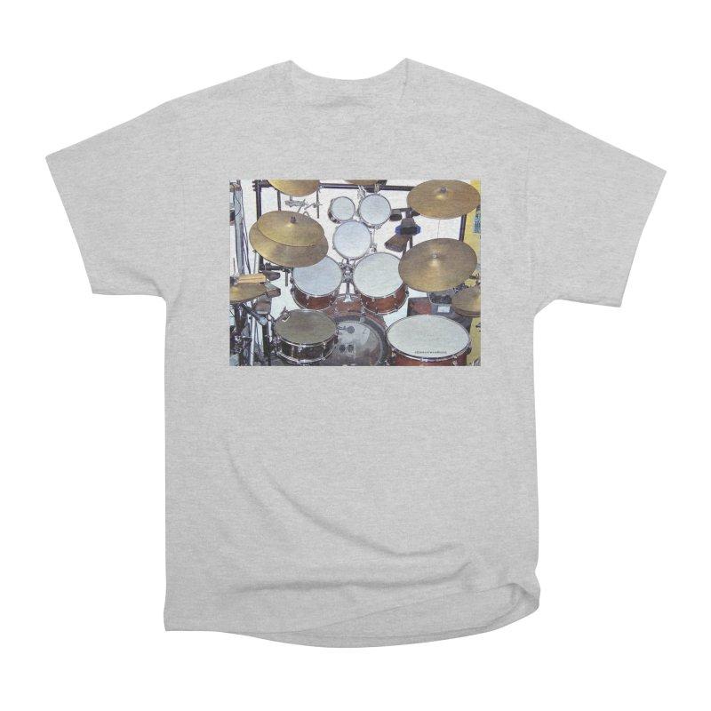 I need a BIG Drumset! Women's Heavyweight Unisex T-Shirt by EdHartmanMusic Swag Shop!
