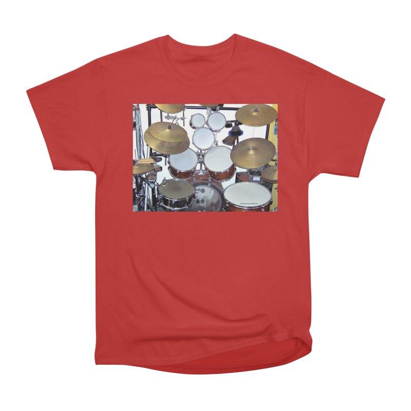 I need a BIG Drumset! Men's Heavyweight T-Shirt by EdHartmanMusic Swag Shop!