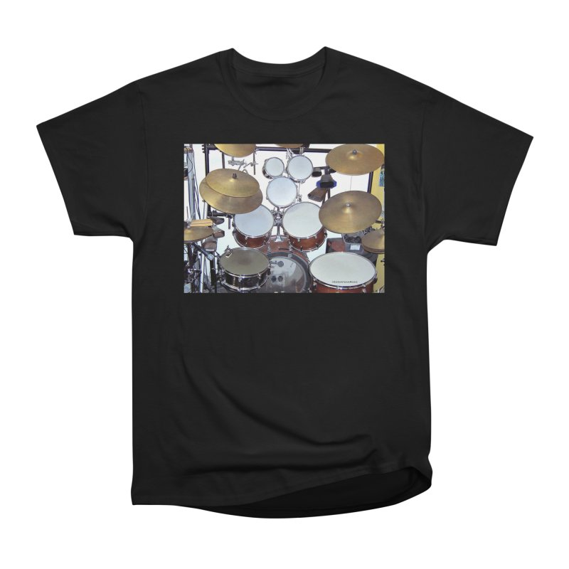 I need a BIG Drumset! Women's Heavyweight Unisex T-Shirt by EdHartmanMusic Swag Shop!
