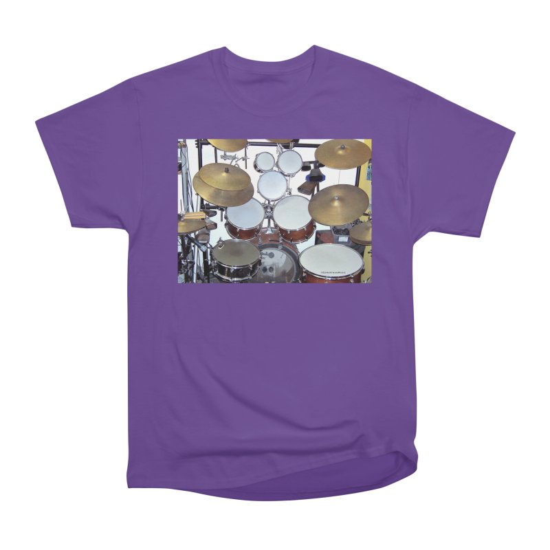 I need a BIG Drumset! Men's Heavyweight T-Shirt by EdHartmanMusic Swag Shop!