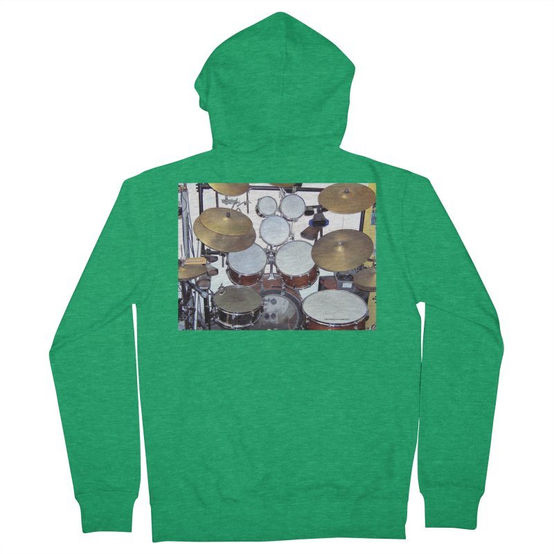 I need a BIG Drumset! Men's Zip-Up Hoody by EdHartmanMusic Swag Shop!