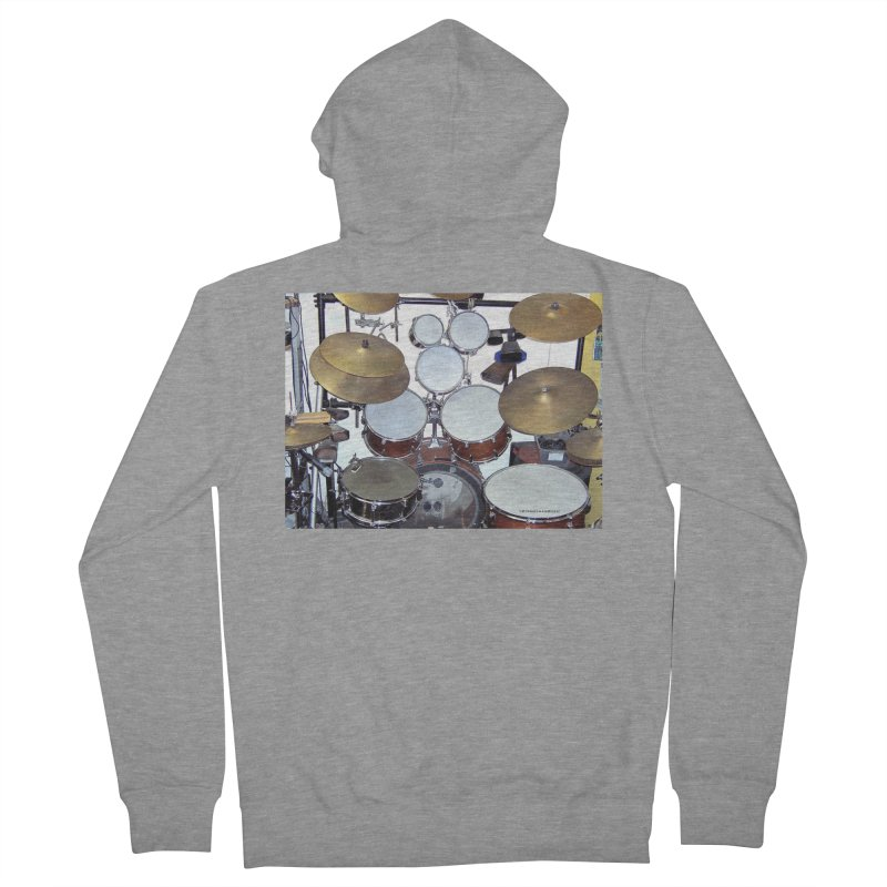 I need a BIG Drumset! Men's French Terry Zip-Up Hoody by EdHartmanMusic Swag Shop!