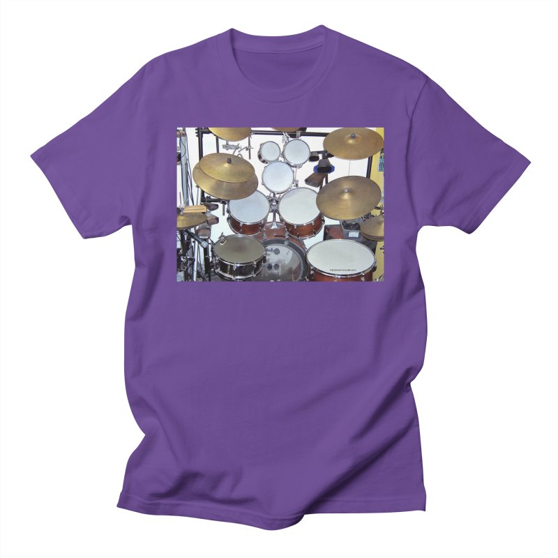 I need a BIG Drumset! Women's Regular Unisex T-Shirt by EdHartmanMusic Swag Shop!