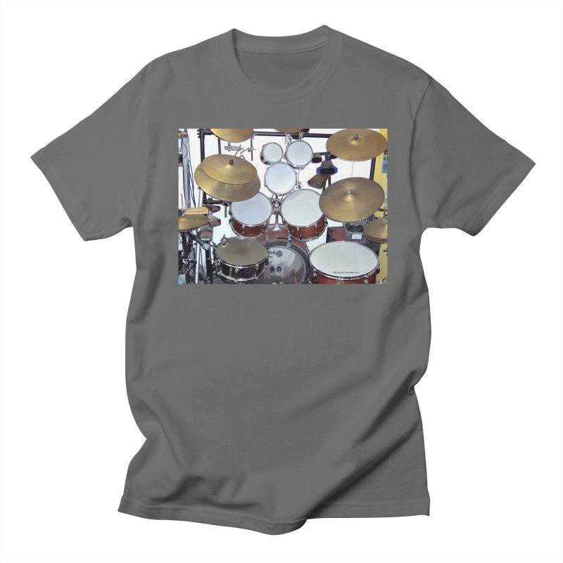 I need a BIG Drumset! Women's Regular Unisex T-Shirt by EdHartmanMusic Swag Shop!