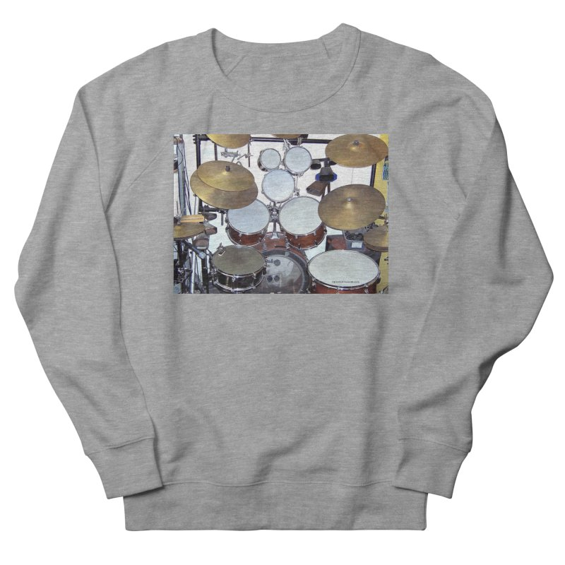 I need a BIG Drumset! Women's French Terry Sweatshirt by EdHartmanMusic Swag Shop!