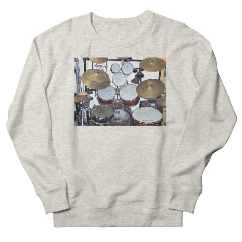 I need a BIG Drumset! Men's French Terry Sweatshirt by EdHartmanMusic Swag Shop!