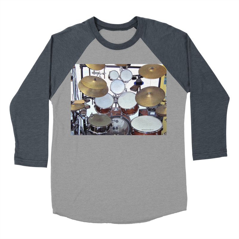 I need a BIG Drumset! Women's Baseball Triblend Longsleeve T-Shirt by EdHartmanMusic Swag Shop!