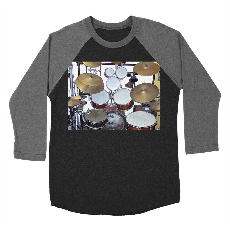 I need a BIG Drumset! Men's Baseball Triblend T-Shirt by EdHartmanMusic Swag Shop!