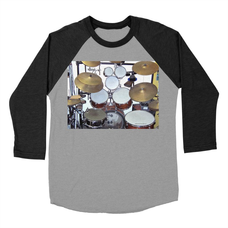 I need a BIG Drumset! Men's Baseball Triblend Longsleeve T-Shirt by EdHartmanMusic Swag Shop!