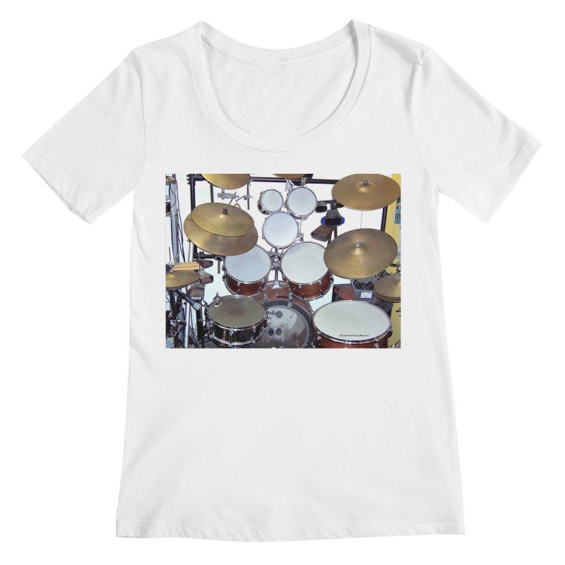 I need a BIG Drumset! Women's Regular Scoop Neck by EdHartmanMusic Swag Shop!