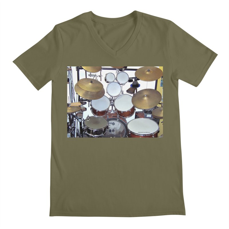 I need a BIG Drumset! Men's V-Neck by EdHartmanMusic Swag Shop!