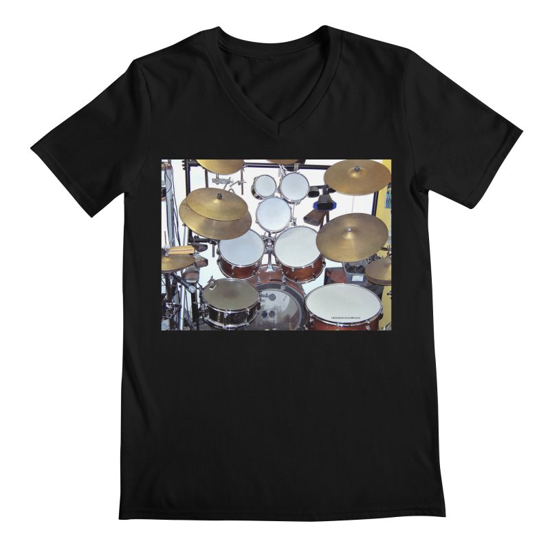 I need a BIG Drumset! Men's V-Neck by EdHartmanMusic Swag Shop!