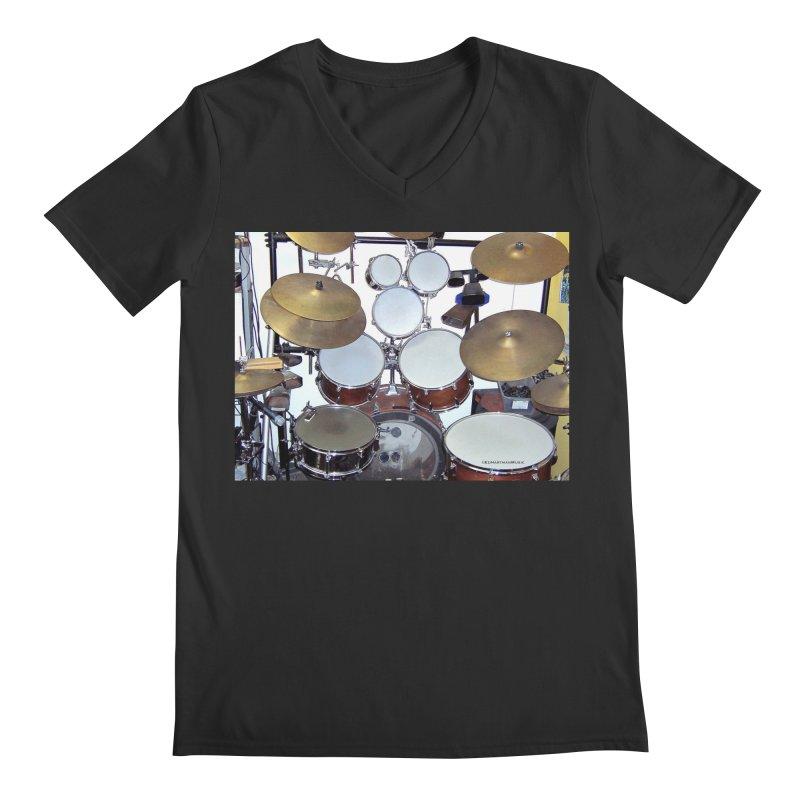 I need a BIG Drumset! Men's Regular V-Neck by EdHartmanMusic Swag Shop!