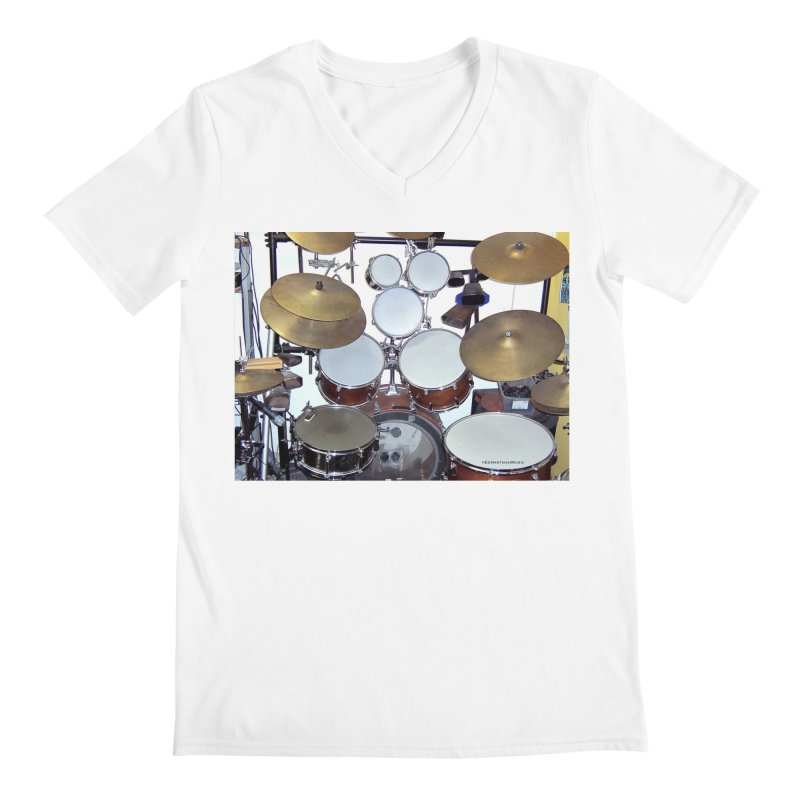 I need a BIG Drumset! Men's Regular V-Neck by EdHartmanMusic Swag Shop!